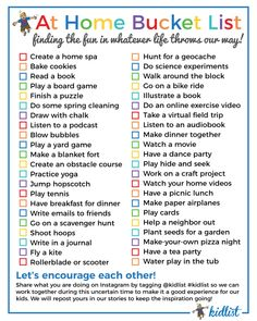 At-Home Activities Inside and Out + Free Bucket List Printable Babysitting Activities, Home Activities, Summer Activities For Kids, Indoor Activities, Nanny Activities, Vintage Cuba, Productive Things To Do, Things To Do At Home, Summer Fun List
