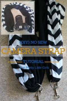 DIY Camera Strap {Tutorial} Using an infinity scarf. Super easy, no sewing required.