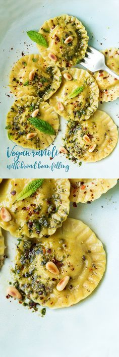 Love the idea of ravioli with a filling other than meat or cheese