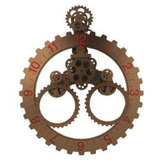 Big Date Wheel Clock Rust now featured on Fab.
