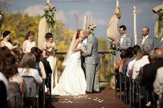 groom and bride kiss at wedding ceremony | Park City Mountain Resort Wedding | Logan Walker Photography