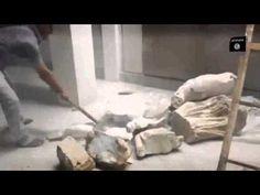 داعش تدمر الآثار التاريخية في متحف الموصل