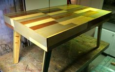 scrap wood pieces inspired from Piet Hein Eek