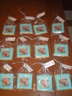 Galletas con foto comestible para celebrar el nacimiento de un bebé!! Enhorabuena!!