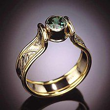 Gold & Stone Ring by Louise Norrell