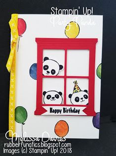 18 Ideas baby cards handmade sayings party animals for 2019 Kids Birthday Cards, Handmade Birthday Cards, Birthday Greeting Cards, Greeting Cards Handmade, Kids Cards, Baby Cards, Panda Party, Window Cards, Cute Cards