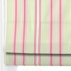Lulu Sage -Roman Blind -great fresh green and pink - great for a modern country kitchen. #home decor #blinds# pink #green #247