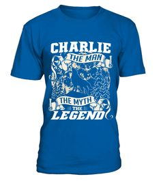 # CHARLIE THE MAN THE MYTH THE LEGEND .  CHARLIE THE MAN THE MYTH THE LEGEND  A GIFT FOR A SPECIAL PERSON  It's a unique tshirt, with a special name!   HOW TO ORDER:  1. Select the style and color you want:  2. Click Reserve it now  3. Select size and quantity  4. Enter shipping and billing information  5. Done! Simple as that!  TIPS: Buy 2 or more to save shipping cost!   This is printable if you purchase only one piece. so dont worry, you will get yours.   Guaranteed safe and secure…