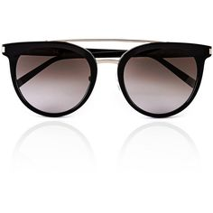 e48f4c011bc6 Calvin Klein Double Bar Cat Eye Sunglasses (260 BGN) ❤ liked on Polyvore  featuring accessories