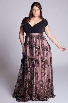 1f340f3bea IGIGI Plus Size Naomi Gown - Look at the gorgeous skirt on this dress!