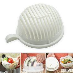 3.72AUD - Kitchen Bowl Easy Salad Fruit Vegetable Washer Cutter Salad Maker Chopper No Box #ebay #Home & Garden