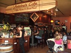 Antoine's Cafe, on El Camino Real in San Clemente, dishes up personality plus, plus great coffee and food