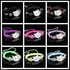 Wholesale spacer kitty Disco Magnetite Ball Beads Adjustable Shamballa Bracelet in Jewellery & Watches, Fashion Jewellery, Bracelets | eBay