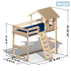 Hoogslaper Wickey Winney's Hut, kinderbedden