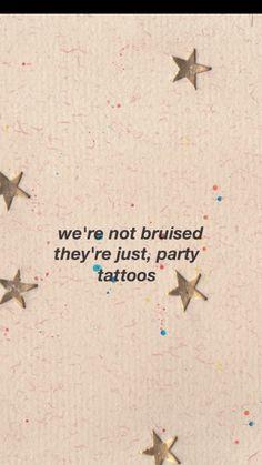 Party tattoos- Dodie Clark