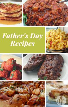 Looking for Father's Day recipes? Browse more than 400 recipes for Father's Day brunch, plus ideas for dinner, dessert, and all types of food that Dad loves best! Fathers Day Dinner Ideas, Fathers Day Brunch, Beef Recipes, Cooking Recipes, Healthy Recipes, Holiday Recipes, Dinner Recipes, Dessert Recipes, Desserts
