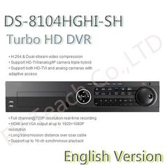 english version DS-8104HGHI-SH 4ch Turbo HD DVR with 8SATA,Support HD-TVI/analog/IP camera triple hybrid //Price: $US $830.00 & FREE Shipping //      #Optical #Tactical #Science #Computing #UFO