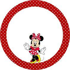Kit Completo Minnie Vermelha - com molduras para convites, rótulos de guloseimas, lembrancinhas e imagens   Fazendo a Nossa Festa