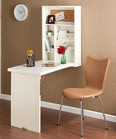 Take a look at this White Convertible Fold-Out Desk by Southern Enterprises on #zulily today!