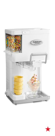 Forget the soft serve drive-in, customize your next ice cream cone with this ingenious ice cream maker from Cuisinart that automatically adds up to three of your favorite mix-ins!