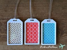 Wedding Favors  PickaPattern Luggage Tags by lovetravelsfavors, $3.50
