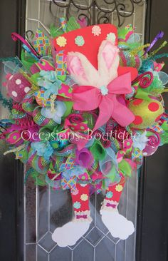 Easter Wreath Spring Wreath Easter Decoration by OccasionsBoutique