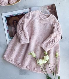 Best 11 How to make a Knitted Kimono Baby Jacket – Free knitting Pattern & tutorial – Sa… – – SkillOfKing. Knit Baby Dress, Baby Girl Romper, Baby Girl Party Dresses, Knit Baby Sweaters, Baby Girl Winter, Sweater Knitting Patterns, Knitting For Kids, Baby Hats, Crochet Baby
