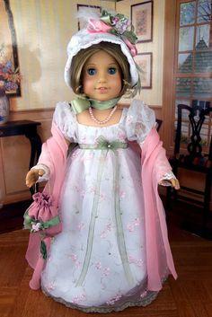 1800s Regency Gown Jane Austen Fits American Girl Caroline Littlecharmers | eBay
