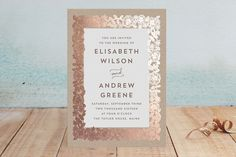 Elisabeth Floral Foil-Pressed Wedding Invitations by Katharine Watson at minted.com