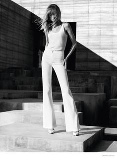 Introducing the spring-summer 2015 campaign from J Brand starring Daria Strokous. The new images embrace a California ease while still maintaining a casual sophistication. Photographed in black and white by Josh Olins, the blonde beauty wears slim-cut and streamlined silhouettes including flared legs and skinny styles. Alastair McKimm worked as stylist for the advertisements with hair by Esther Langham and makeup by Sally Branka.     ...