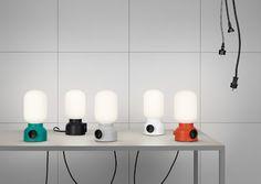 """El estudio sueco Form Us With Love colaboró con Ateljé Lyktan para crear la lámpara Plug como parte de su exhibición """"Form Us With Friends"""" durante la semana del diseño en Estocolmo."""