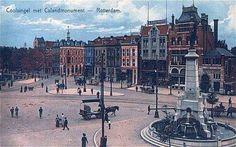 Rotterdam - Coolsingel met Calandmonument, 1910