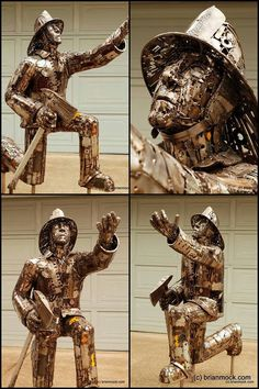 Recycled sculpture created by Brian Mock