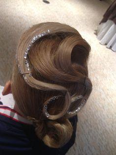 Swirled and Bejeweled Hair