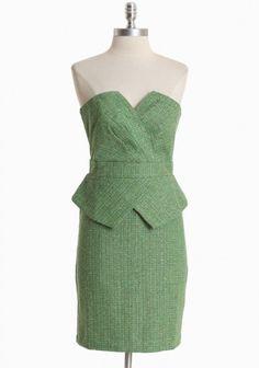 I love the vintage feel of this tweed dress...