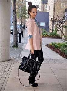 dressy casual attire for business women, minus the bun...