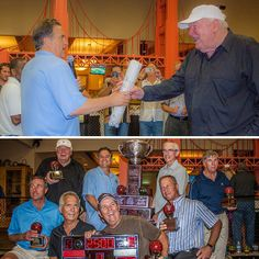 John Madden and Steve Mariucci at bocce charity event