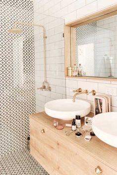 Feminine Bathroom, Minimal Bathroom, Small Bathroom, Bathroom Wall, Bathroom Ideas, Neutral Bathroom, Washroom, Bathroom Organization, Boho Bathroom