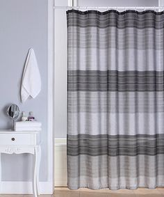 Take a look at this Black Ombré Jewel Shower Curtain by Beatrice Home on #zulily today! $14.99, regular 25.00