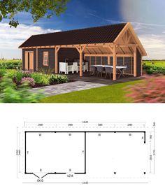 Backyard Pavilion, Backyard Bar, Backyard Patio Designs, Outdoor Kitchen Patio, Outdoor Pergola, Outdoor Rooms, Open Shed, Pool House Designs, Brick Bbq