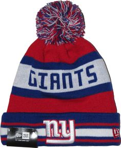 New Era NFL Team Jake Bobble Hat. Team Colours with the NY Giants and New edcee7f2925