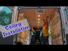 A step by step ceiling installation guide for campervan conversions. By using a plank ceiling for our conversion van, we ended with a beautiful ceiling Diy Van Conversions, Conversion Van, Luxury Campers, Wool Insulation, Plank Ceiling, Ceiling Installation, Diy Camper, Tongue And Groove