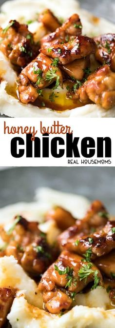This Honey Butter Chicken is EPIC & crazy easy to make. I make it with bite-size pieces to maximize caramelized surface in the stunning sauce! via @realhousemoms