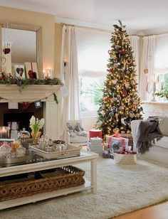 Fabulous Christmas Decorating Ideas Living Room With Fireplace