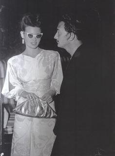 Gloria Vanderbilt with Salvador Dali.
