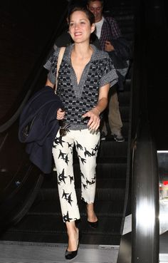 Marion Cotillard Photos: Marion Cotillard Departing On A Flight At LAX