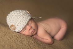 Cream Newborn Newsboy Hat | Beautiful Photo Props