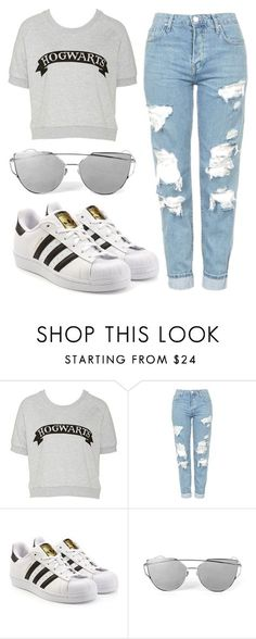 """""""Literally My Life"""" by nyah-king ❤ liked on Polyvore featuring Topshop and adidas Originals"""
