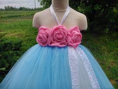 Wedding tutu dress – flower girl tutu – birthday tutu dress – party tutu dress – pageant dress – tutu dress – blue tutu dress – lace tutu