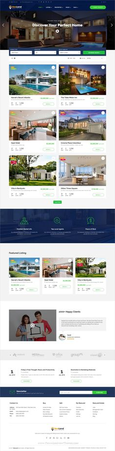 ReaLand is a clean and modern design 5in1 responsive #WordPress theme for #property and #realestate business #website to download & live preview click on image or Visit